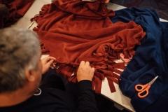 Assembling blankets